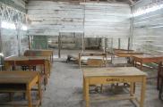 Meja belajar di SD Muhammadiyah Gantong