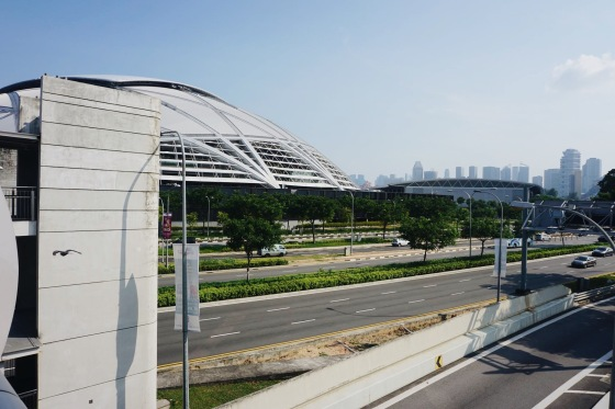 Walking to Singapore National Stadium from Kallang Station
