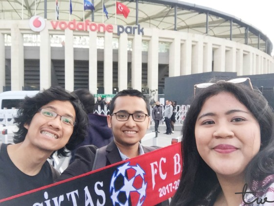 Selfie in front of Vodafone Park